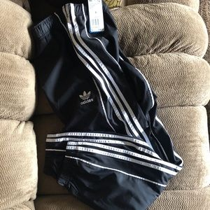 adidas originals lined track pants with tags